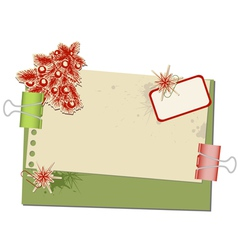 christmas background with old spotted paper and pa vector image