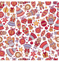 Christmassy abstract geometric seamless pattern vector