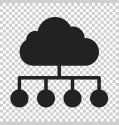 cloud computing technology icon in flat style vector image