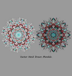 Colorful hand drawn mandala vector