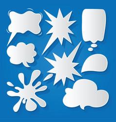 Comic bubble speech balloons speech cartoon 198 vector
