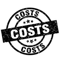 Costs round grunge black stamp vector
