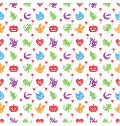 cute hallowen pattern background vector image