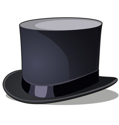 Cylinder hat mens vintage clothing isolated vector