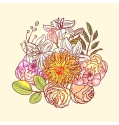 decorative floral pattern vector image