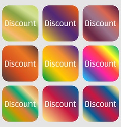 discount sign icon Sale symbol Special offer label vector image
