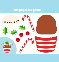 diy children educational creative game paper vector image