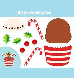 diy children educational creative game paper vector image