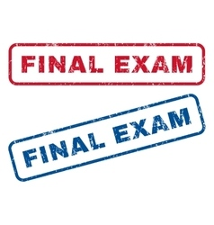 Final exam rubber stamps vector