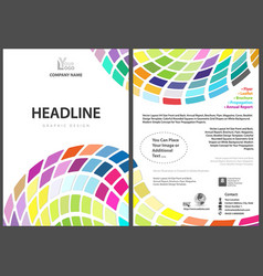 flyer template with colorful squares vector image