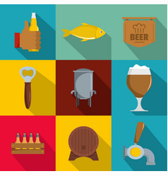 Foodie icons set flat style vector