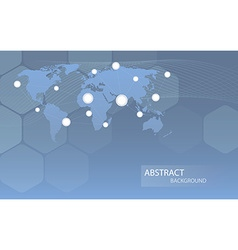 Global communicational channels background vector image