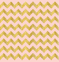 Gold glittering heart seamless pattern vector