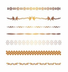 Golden Borders and elements for design vector image