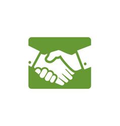 handshake business logo vector image