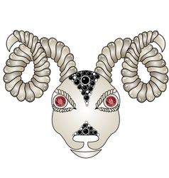 Head of the ram ram head Zodiac signs - Aries vector image