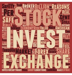 Is It Safe To Invest In Shares Or The Forex text vector