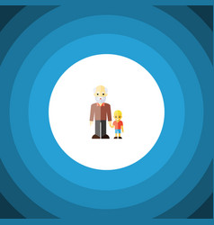 isolated grandpa flat icon grandson vector image