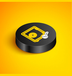 Isometric line prostake icon isolated on vector