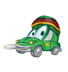 jamaican car cartoon isolated on white background vector image