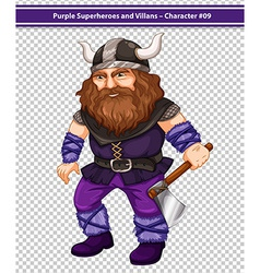 Male viking vector image