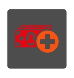 Medical Expences Flat Button vector image