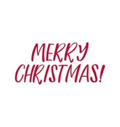 Merry Christmas Red Lettering Inscription vector image