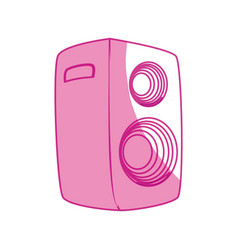 Music party speaker vector
