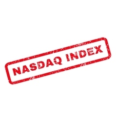 Nasdaq Index Rubber Stamp vector image