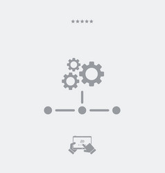 network icon - working gears vector image