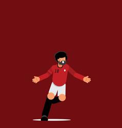 Number ten egypt footballer goal celebration vector