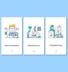 online medical support mobile medical appsdoctor vector image