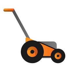 Orange lawnmower icon cartoon style vector