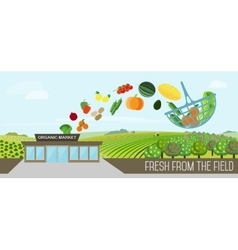Organic food delivery vector