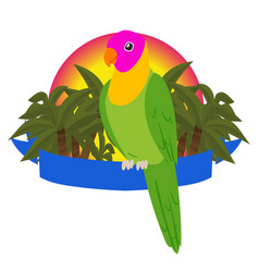 parrot paradise banner birds vector image