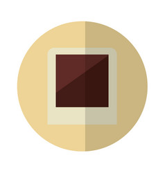 Picture shot isolated icon vector