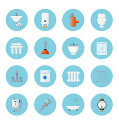 Plumbing and heating home equipment vector