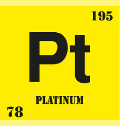 Pt symbol 78 material for platinum chemical vector