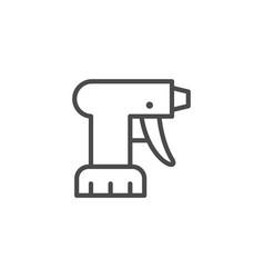 Pulverizer equipment line outline icon vector