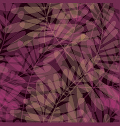 Purple color tropical leaves seamless pattern vector