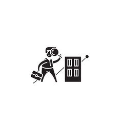 real estate research black concept icon vector image