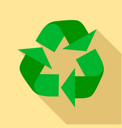 recycle sign icon flat style vector image