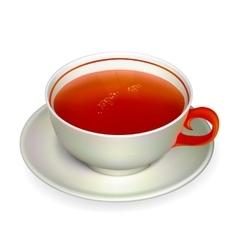 red tea vector image