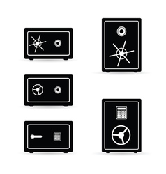 safe set black and white vector image