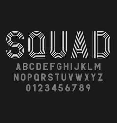 set alphabets fonts modern abstract design vector image