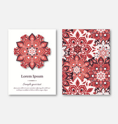Set of cards flyers brochures templates with vector