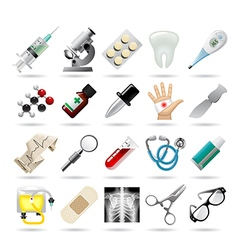 Set of medical icons and tools vector image