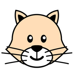 simple cartoon a cute cat vector image