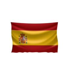 Spain flag on a white vector
