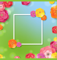 spring card with flowers and banner vector image